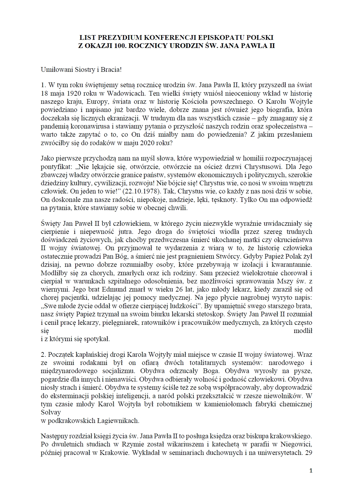 List str. 1